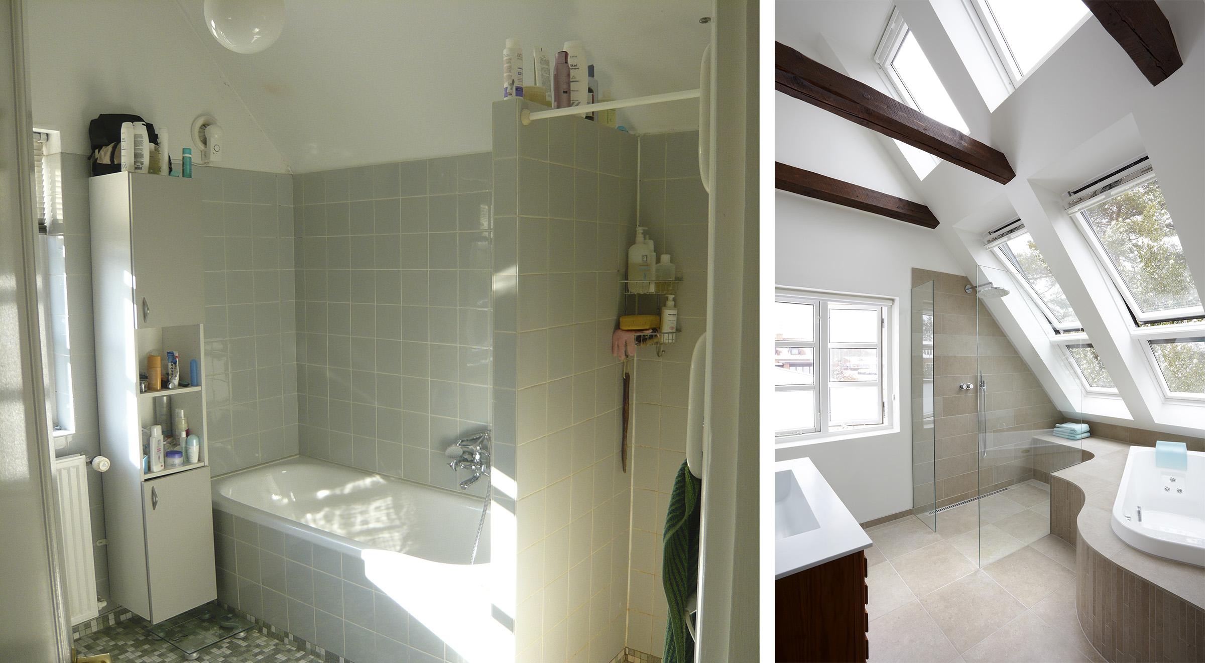 Bad med svungne linjer   danske boligarkitekter